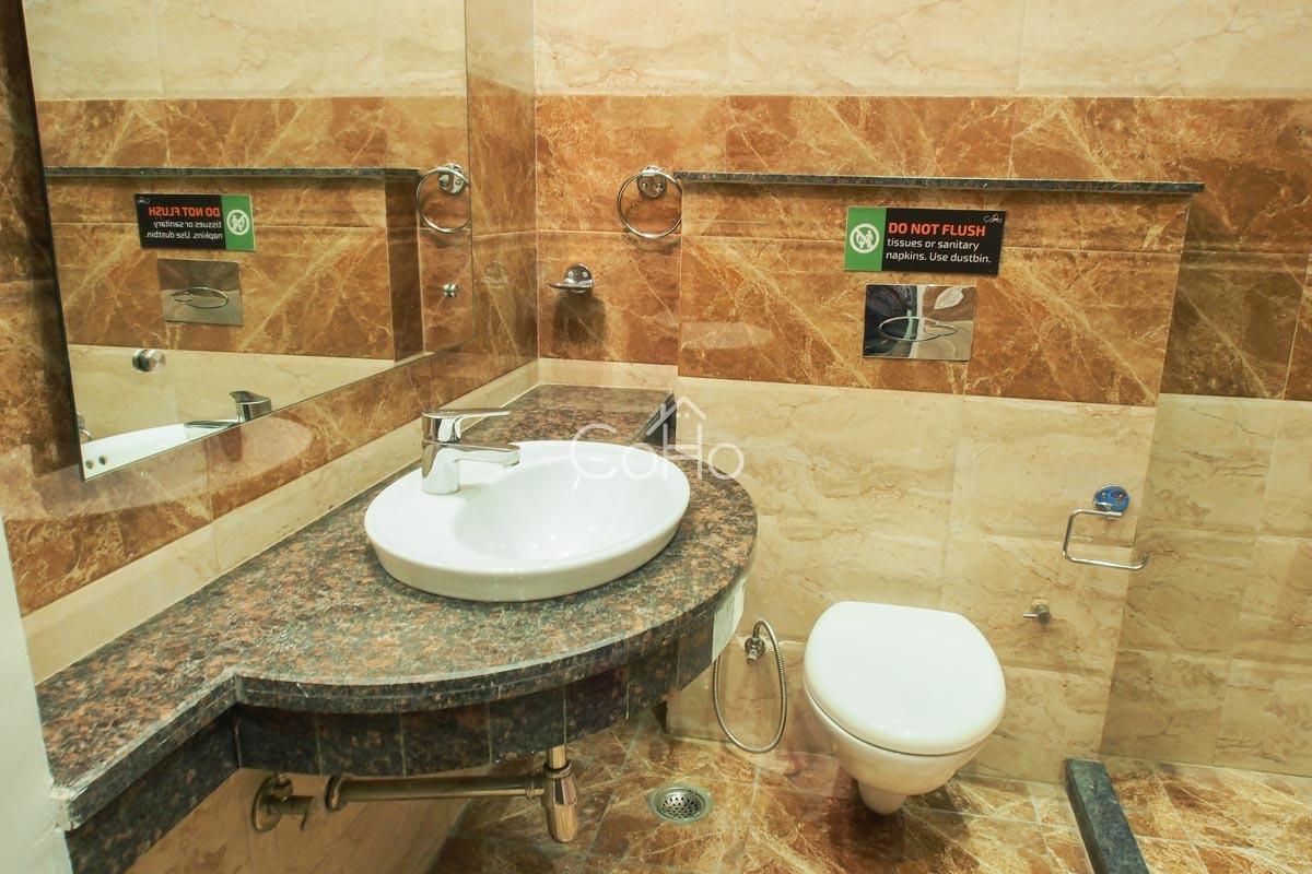 CLEAN SPACIOUS WASHROOMS