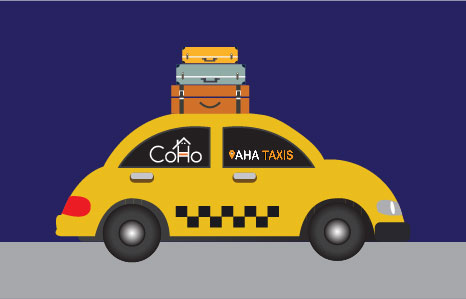CoHo goes tripping with AHA Taxis