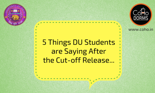 5 Things DU Students Are Saying After The Cut-off Release